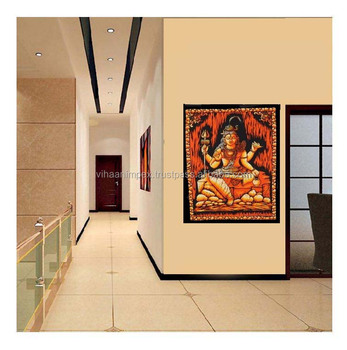 Indian Hand Made God Shiva Spiritual Hippie Indian Traditional Throw ...