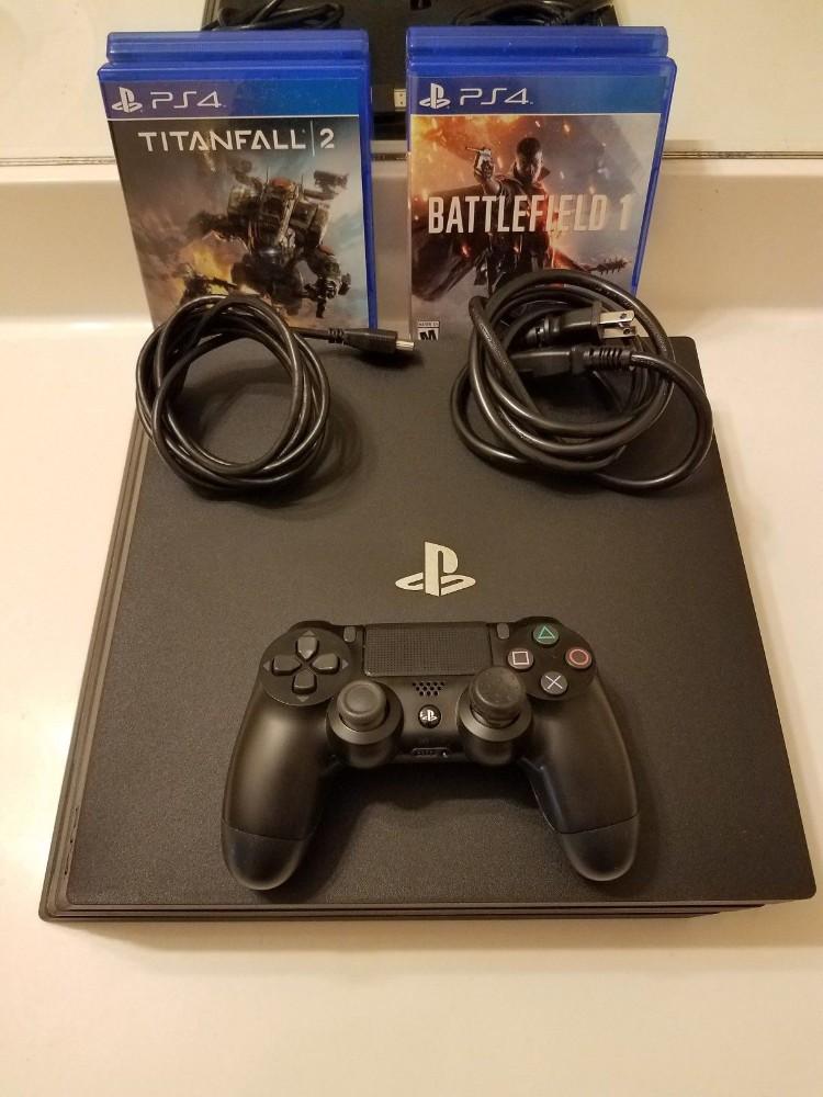 Sony Playstation 4 Ps4 Pro Consola De Juegos Jet Black 1tb 20 Con 10