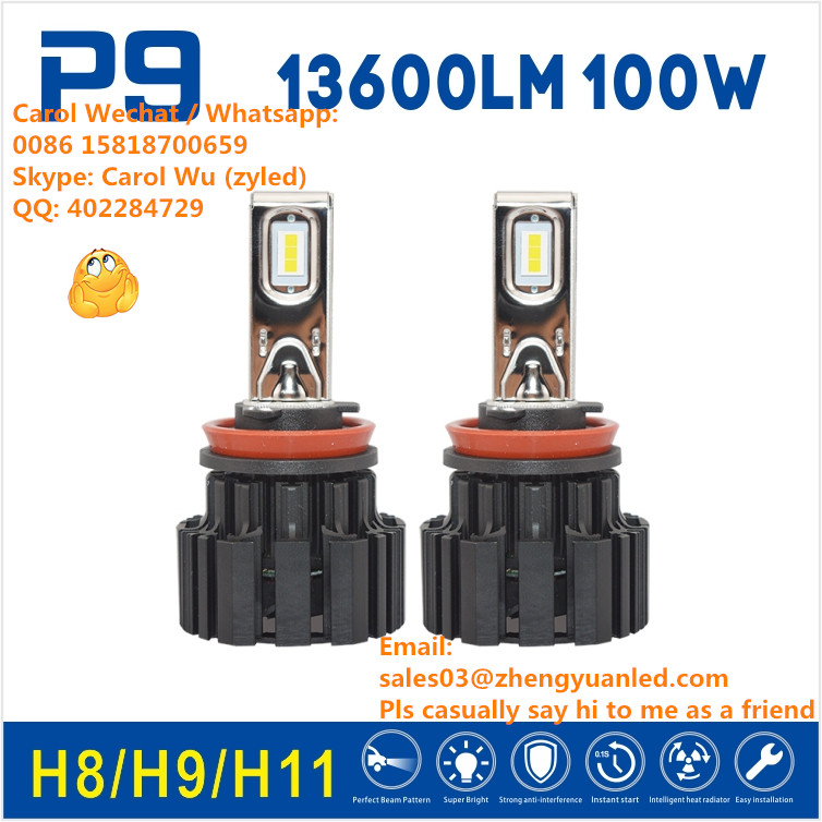 LOVE TOP 1 Bright 13600 lumens led P9 auto lighting system hb3 head light h4 led f2 led headlight