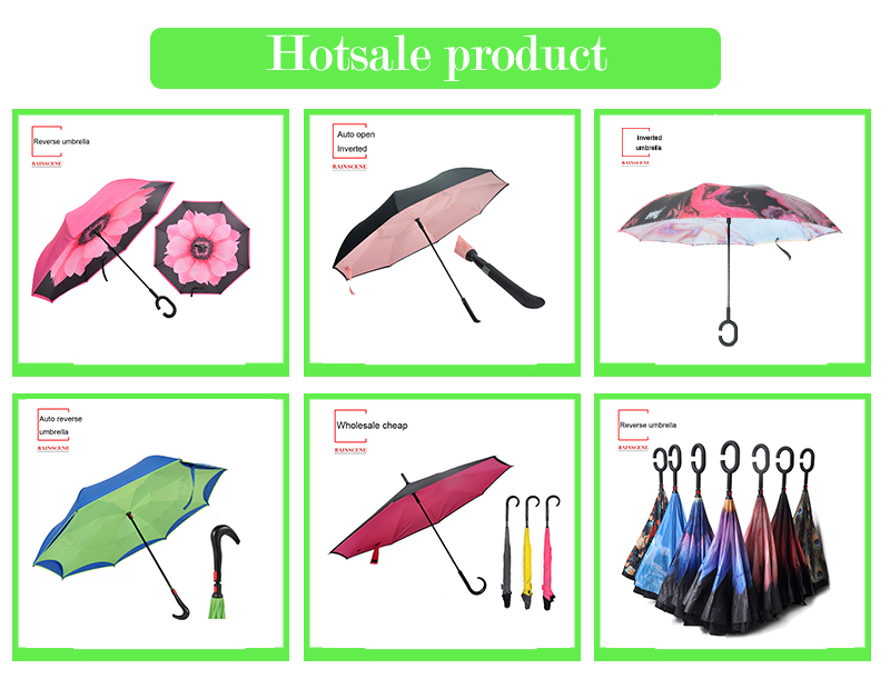 inverted umbrella,reverse umbrella,inverse umbrella,double layer umbrella