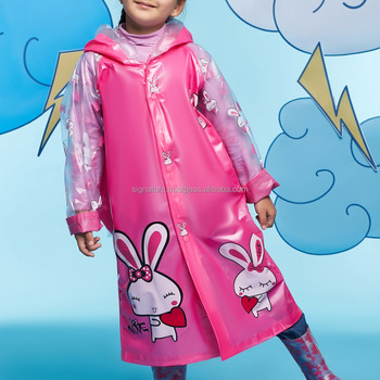 f4e433d1413 Kids Girls Boys Hooded Raincoat Transparent Slicker Long Sleeves Hood Rain  Coat Lightweight Raingear Durable Waterproof