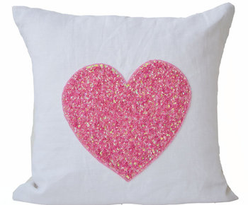 White Linen Heart Pillow Covers Buy Fancy Pillow Covers Large