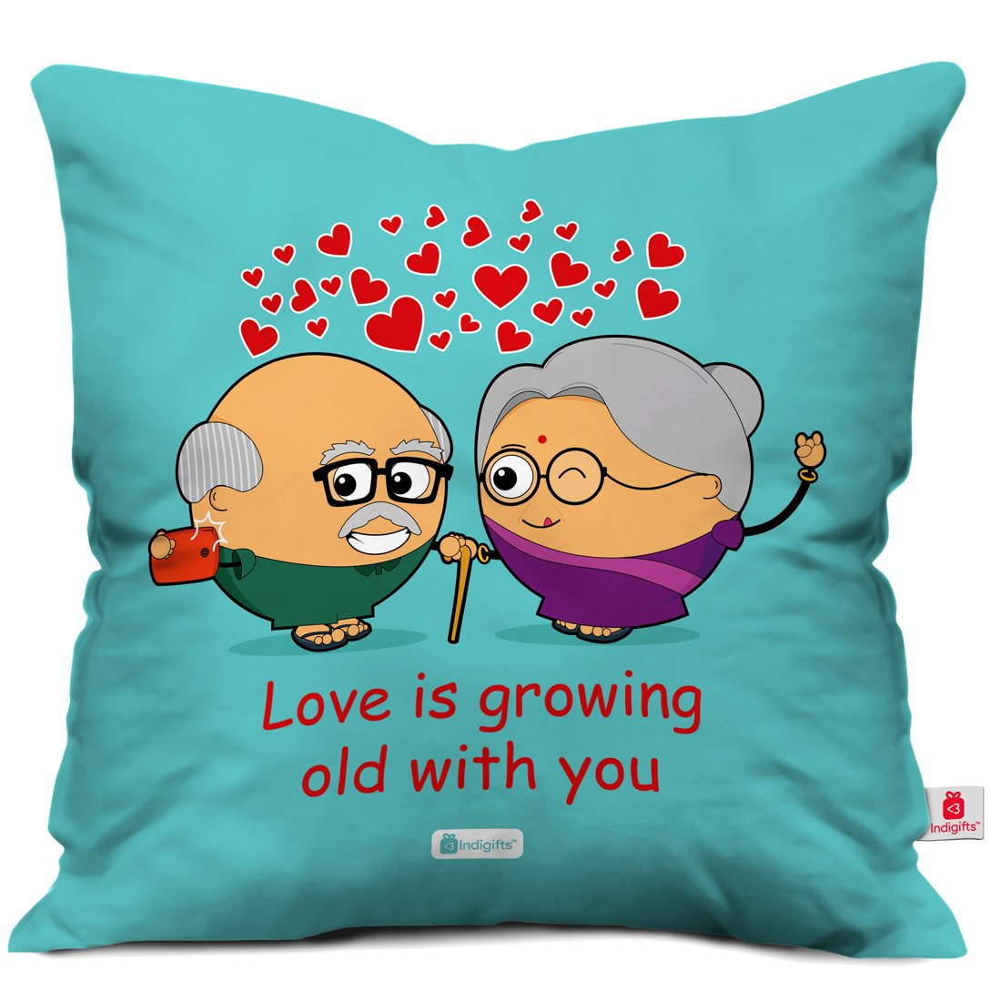 Get Quotations Indibni Valentine Day Gift Love Is Growing Old With You Quote Cute Taking Selfie Blue