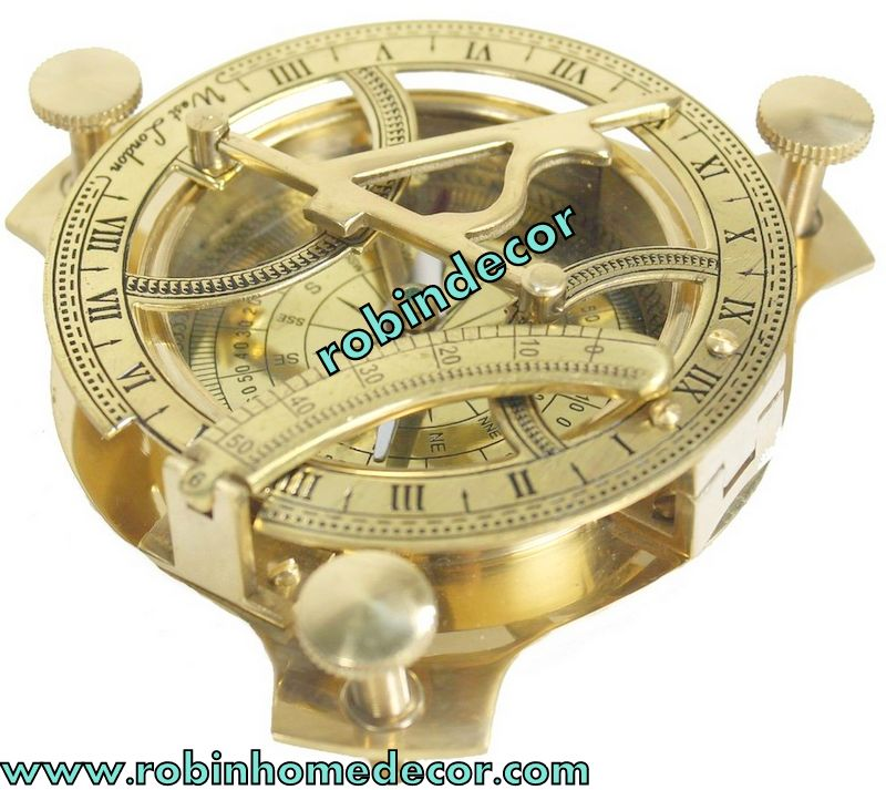 Maritime The Cheapest Price Antique Nautical Sun Dial Compass West London 4.5 Inches Making Things Convenient For Customers