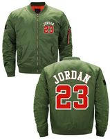Best Quality NEW Men's Thick Jacket Michael Jordan 23 MA1 Flight Bomber Baseball Best Cheap Bomber Jackets