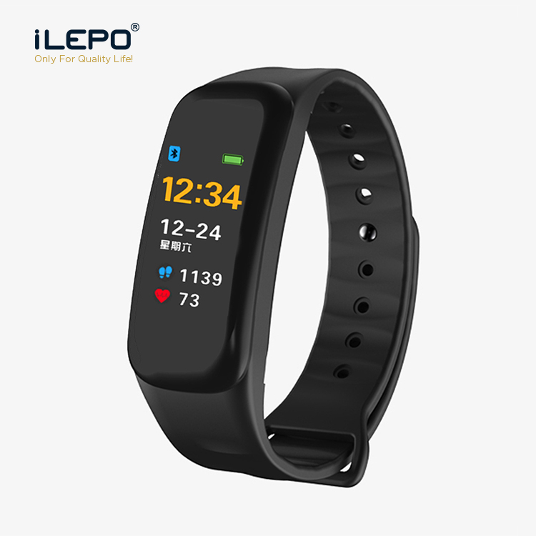 C1 Color Display Ip67 Waterproof Wrist Band Fitness Smart Heart Rate Health Fitness Tracker Watch фото