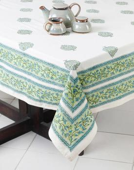 Latest elegant 100% cotton Table cloth custom design Accepted
