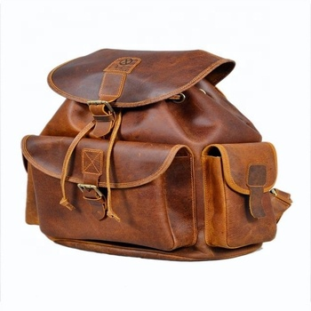 Real Rustic Leather Backpack