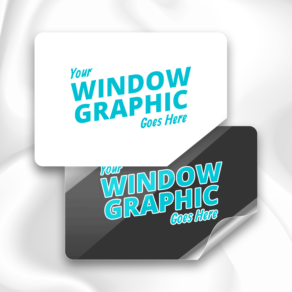 Custom Static Cling Sticker Printing your Design  Contour Cut Business Labels