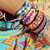 Bangle wayuu, tradicional bracelet, made by indigenous friendship hipanema