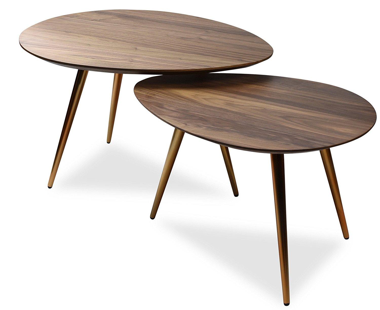 Maddox Mid-Century Modern Nesting Coffee Table Set