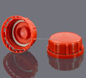 Plastic bottle cap hdpe material self sealing closure for chemical jerry  cans bottles 60 mm