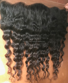 Human Brazilian Hair Weave Frontal Closures Virgin Indian Lace Frontals, Silk Base 5x5 Lace Frontals With Baby Hair