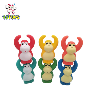 Multi-colored Plastic Monkey Squirter Toy Baby's Partner, Chain Link Kids Toy Gifts