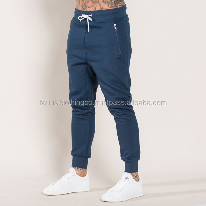Venta Al Por Mayor De Pantalones De Jogging Para Hombre De Gimnasio Elasticos Personalizados A La Moda En Blanco Slim Fit Sport Buy Men S Fit Sweat Pant Product On Alibaba Com