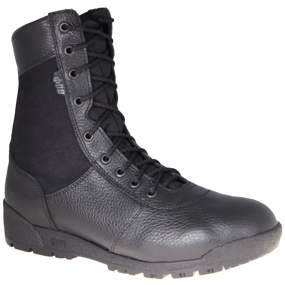 lace up demi-season ankle boots men army shoes genuine leather