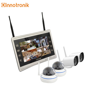 Innotronik P2P Wireless CCTV Camera System 4ch IP camera WiFi Monitor NVR Kits CCTV Kits