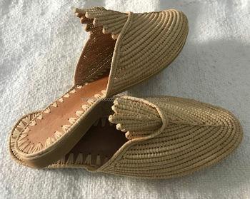 dde610e4b878 Pretty Handmade Moroccan Raffia Shoes - Buy Handmade Knitted ...