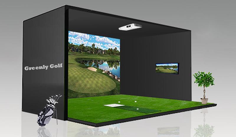 Greenly indoor golf simulator ir 3d screen golf layout for 3d room simulator