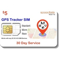 $5 GPS Tracker SIM Card - Kid Senior Pet Car Vehicle Tracking Device - Compatible With 2G 3G 4G GSM Devices - Roaming Available