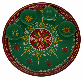 Handcrafted and Handpainted Decorative Plates Puja Essentials and Puja Thali  sc 1 st  Alibaba & Handcrafted And Handpainted Decorative PlatesPuja Essentials And ...