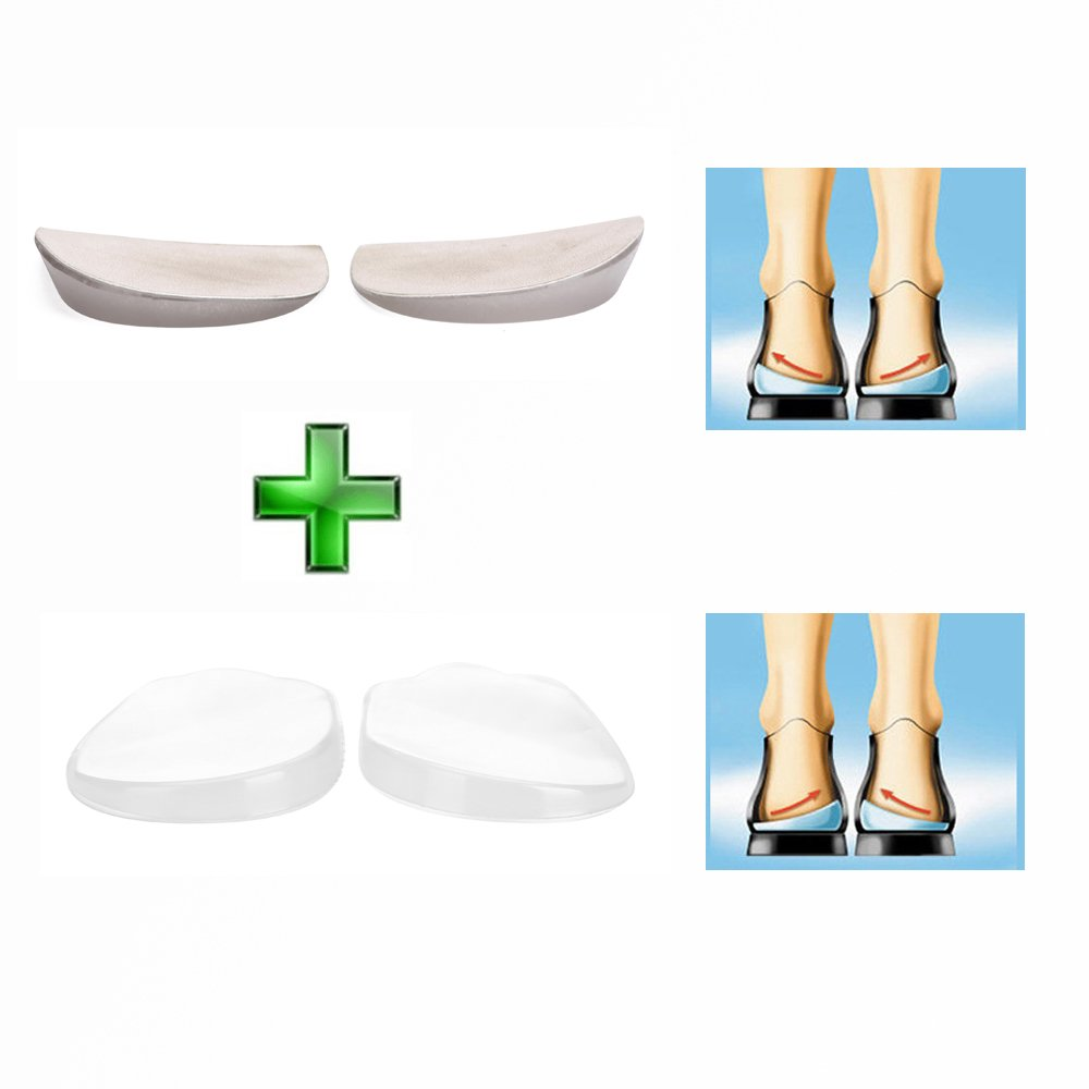 28e9e4ddc52 Get Quotations · Orthopedic Insoles Shoe Inserts Medial   Lateral Heel Wedge  Lift Silicone Pads Corrective O X