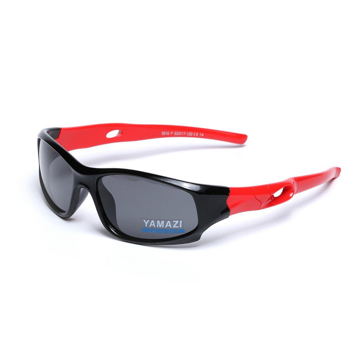 cd5e196aec Get Quotations · YAMAZI Children Sports Polarized Sunglasses For Kids Boys  Girls Rubber Flexible Frame Sunglasses UV Protection