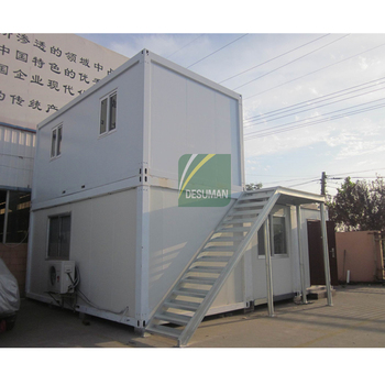Light Steel Structure Duplex Container Building Sandwich Panel Duplex Container For Family Living