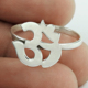 Exaggeration plain silver OM ring 925 silver hindu religious ring wholesale sterling silver jewelry