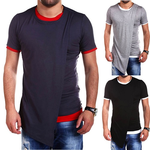 2017 Men t-shirt short sleeve hip hop Justin Bieber shirts Extended T-shirt Casual top tees plus size S-M-L-XL