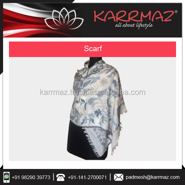 Wholesale LOW MOQ Customized 100 % Cotton Jacquard Scarfs Supplier in India