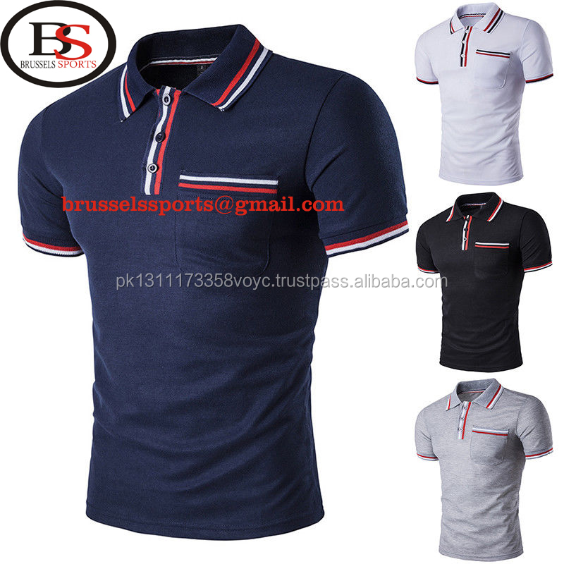 Brussel Sport New Hot Mens Fashion Korte Mouw Casual Polo T-shirts Tee Tops M/L/XL/XXL