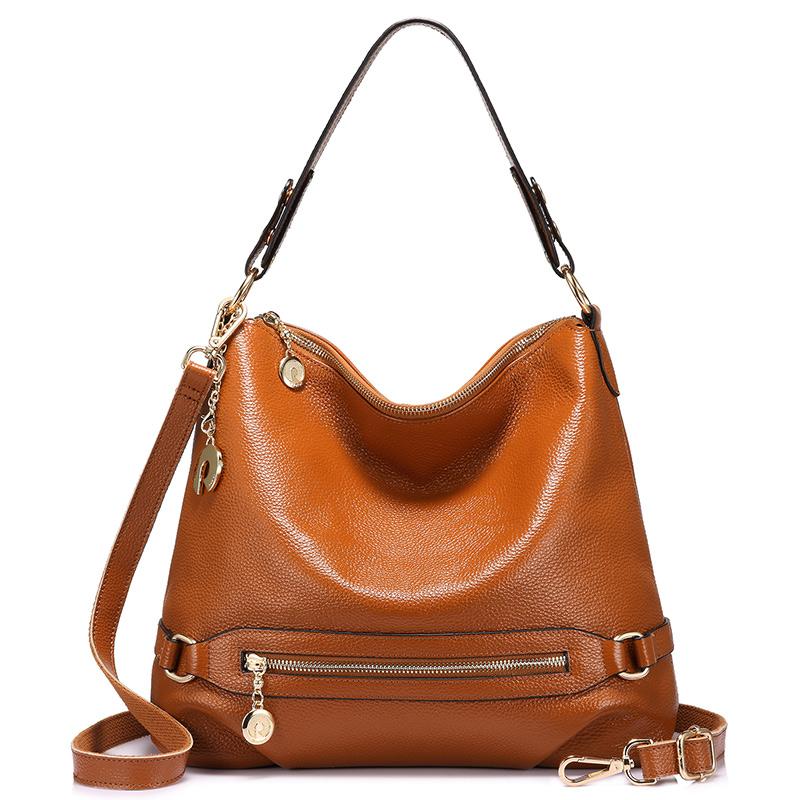 Realer женские сумки высокого качества сумка на плечо из натуральной кожи Сумка через плечо для дамы с короткими ручками с большой емкости(Китай)