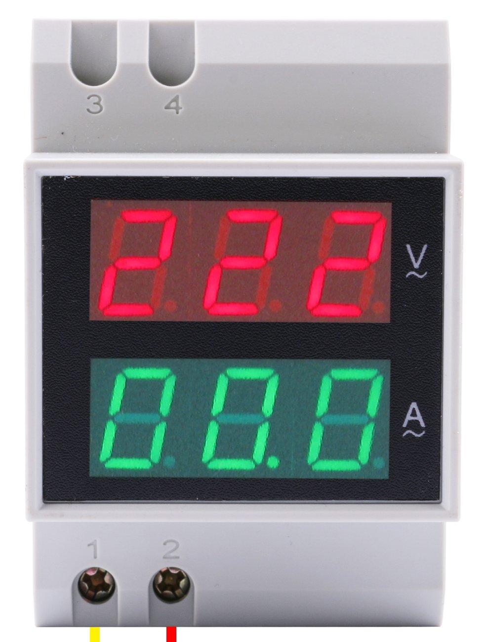Yeeco Dc45 30v 100a Digital Dc Voltmeter Ammeter Testing Gauge Dual Led Amp Power Meter 090v Shunt Current Monitor Volt