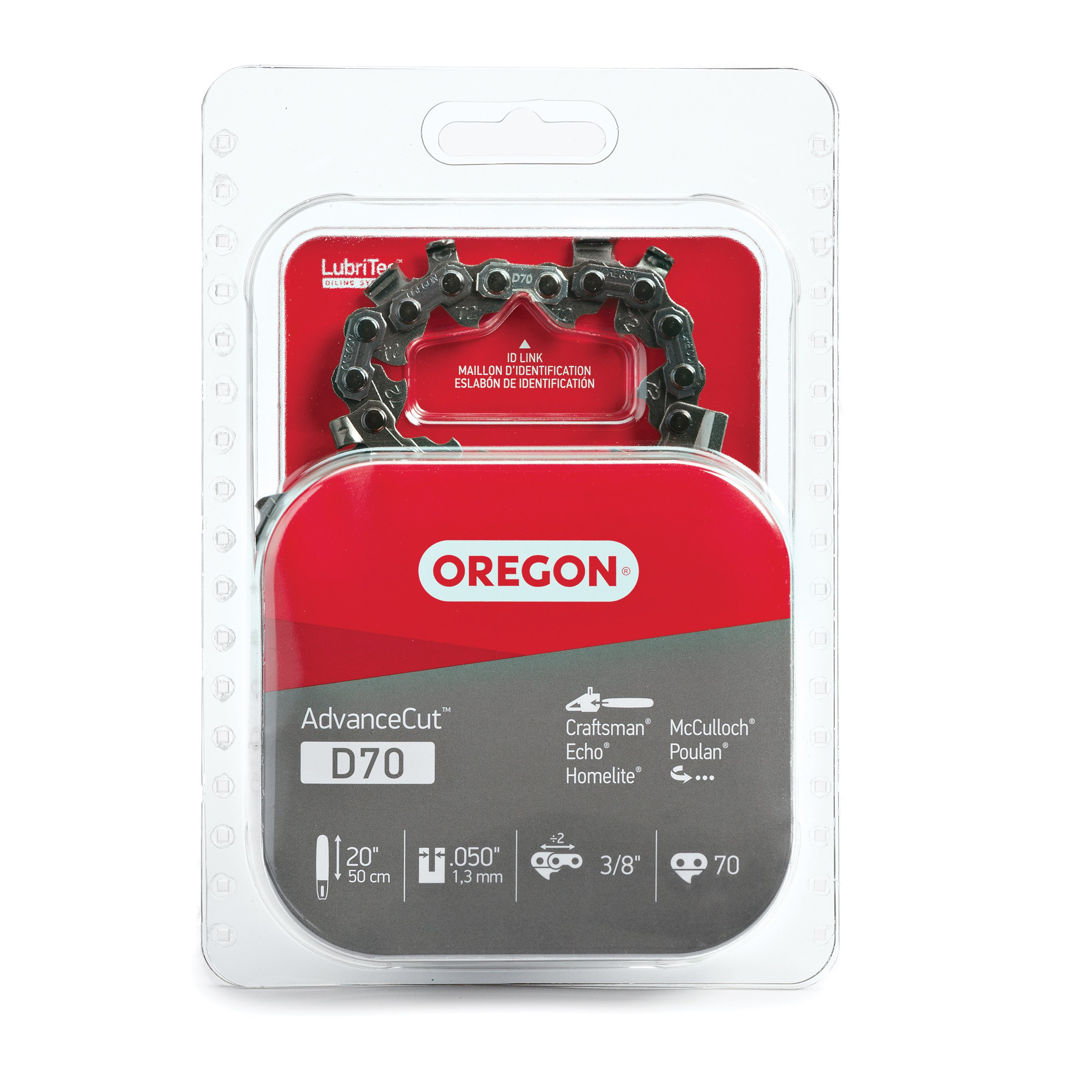Get Quotations · Oregon D70 AdvanceCut 20-Inch Chainsaw Chain Fits  Homelite, McCulloch, Poulan, Echo