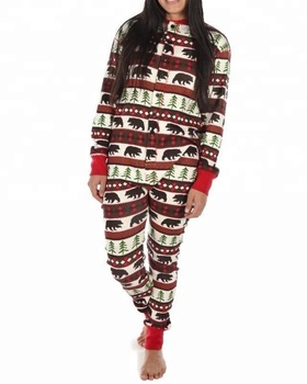 77bd52e9ec Horse Printed Red Onesie Pajama With Bum Flap - Buy Womens ...