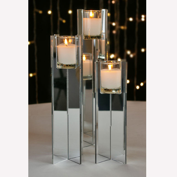 Plexiglass 10 12 Candle Display Riser 8 Inch Mirror Acrylic Votive Candle Holder