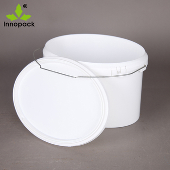 2 Gallon75l Oval Shape Plastic Paint Bucket With Lid And Metal