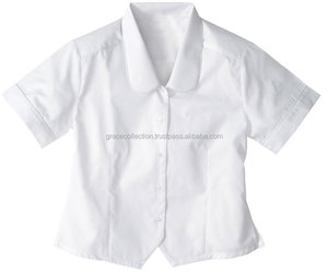 OEM High School Girls White Blouse School Uniform