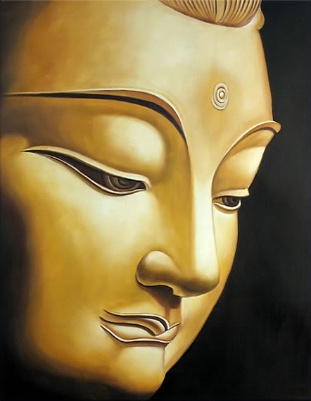 Modern Home Goods Abstract Wall Art Buddha Face Oil Painting On ...