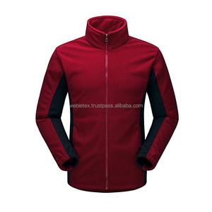 Fleece Jacket With 100% Polyester Polar Fleece Fabric Jacket,