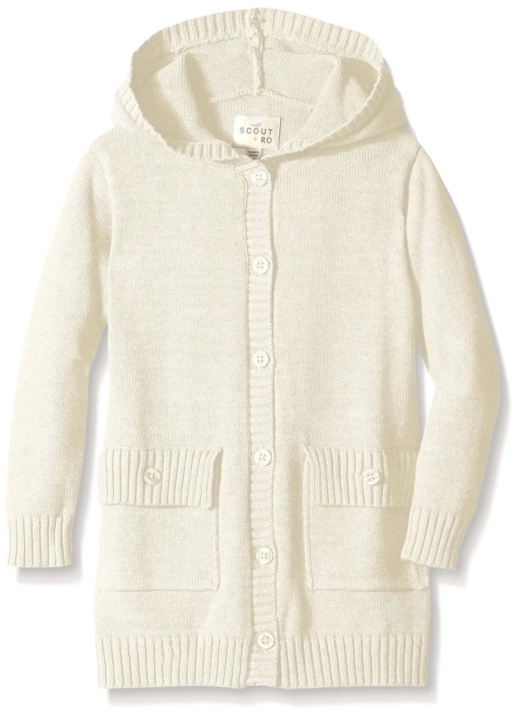 Get Quotations · Scout + Ro Girls  Hooded Button-Front Cardigan Sweater 33e741063