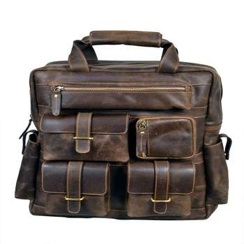 Vintage Leather Backpack Men
