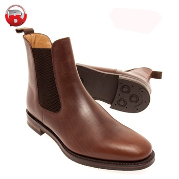 10d14b8dc Camel Brown Ankle Boots with Back Buckle Rubber Crepe Sole Men Shoes. View  larger image