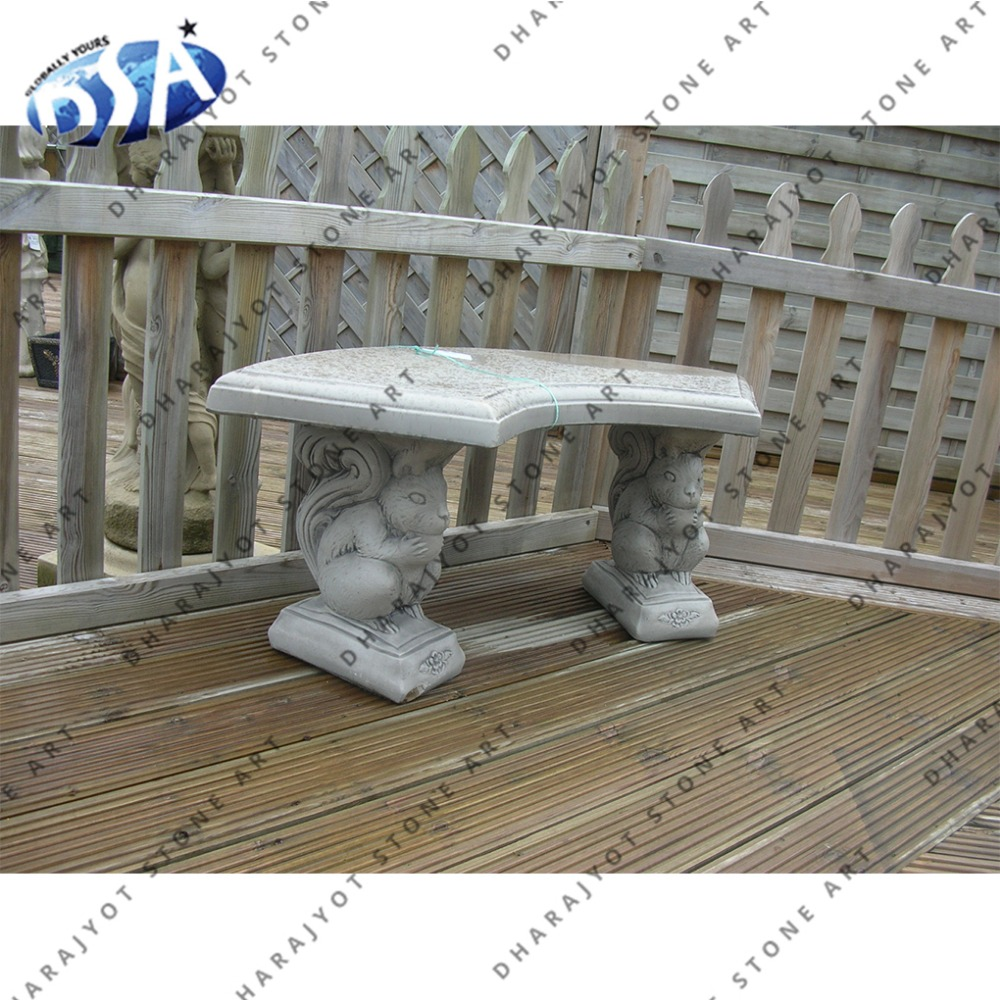 Outstanding Grey Marble Small Home Outdoor Decor Bench With Squirrel Animal Bench Buy Grey Marble Squirrel Animal Statue Garden Stone Bench Indoor Decorative Dailytribune Chair Design For Home Dailytribuneorg