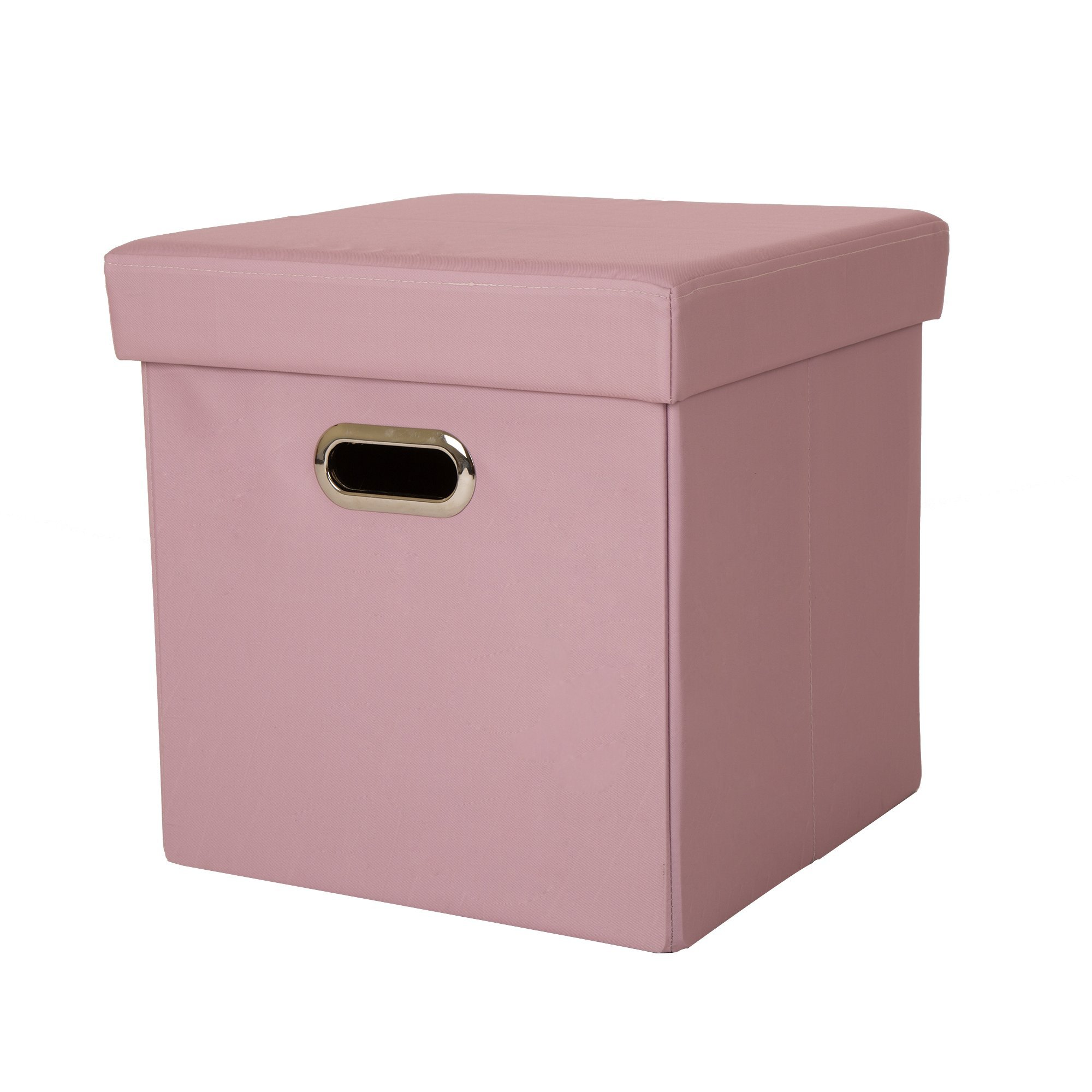 Superieur Get Quotations · Glitzhome Foldable Oxford Cube Storage Ottoman With Padded  Seat Pastel Pink