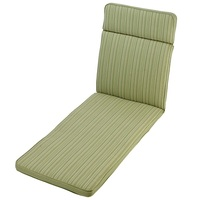 Outdoor adjustable sunbed cushion padded