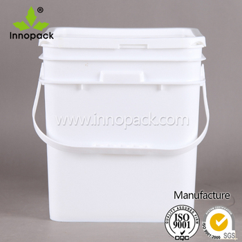 2 Gallon Food Grade Pail With Lid Square Plastic Bucket For Sale