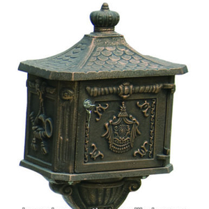 Free Standing Cast Iron Mailbox/ Cast Iron Letter Box