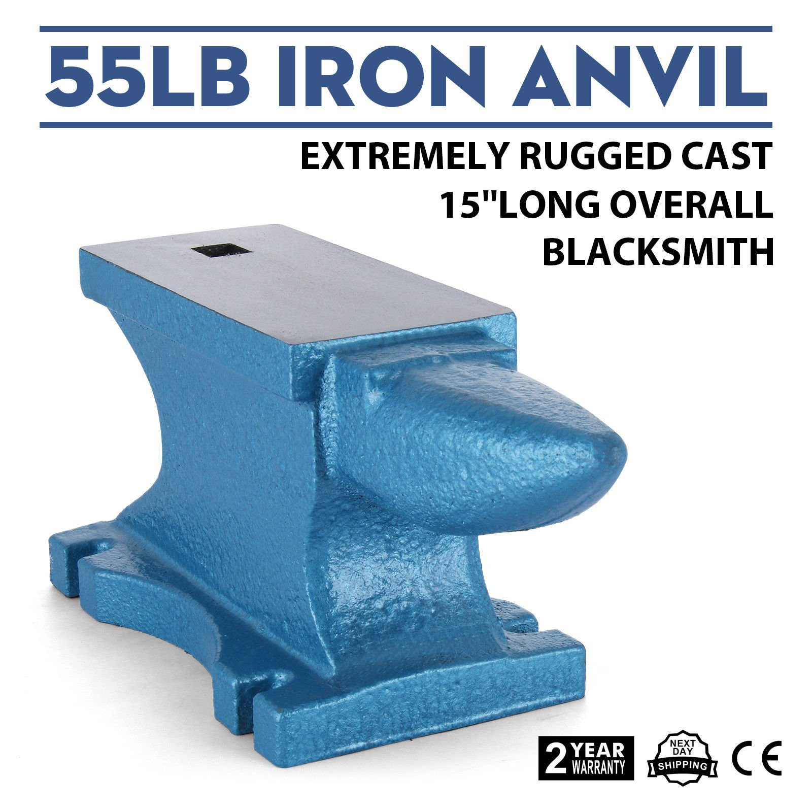 LOVSHARE 66 LBS Double Horn Anvil Steel Surface Cast Iron Stithy Rugged Round Blacksmith/¡/¯s Anvil Industrial Tool Base Jeweler Tool for Metal Jewler MetalSmith Silversmith
